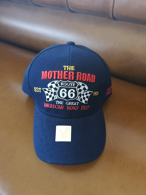 Route 66 Mother Road Race Base Cap blue applications adjustable