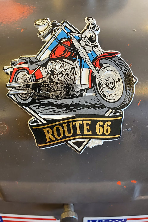 Magnet Route 66 Harley metallic