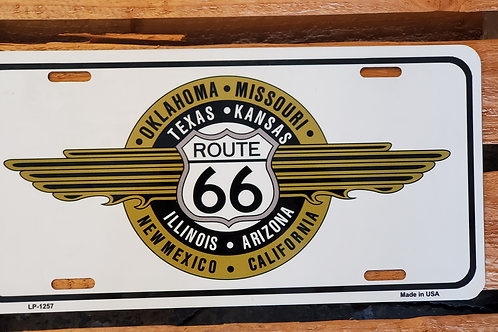 Route 66 Sign License Plate Flag USA