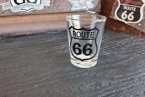 Shot Glass Route 66 print