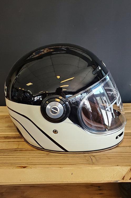Torc Retro Full Face Helmet glossy black/white