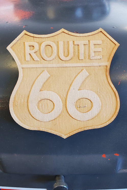 Magnet Route 66 Americas Mainstreet wood