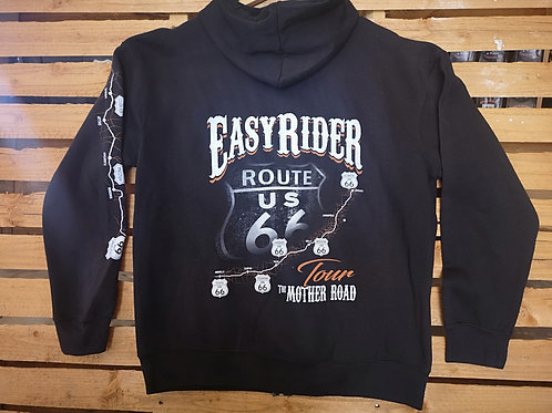 Zip Hoodie - Easy-Rider-USA - front pocket rear full print High quality