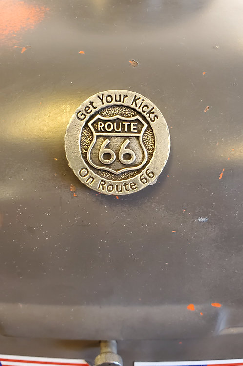 Magnet Route 66 Get your kicks metal coin