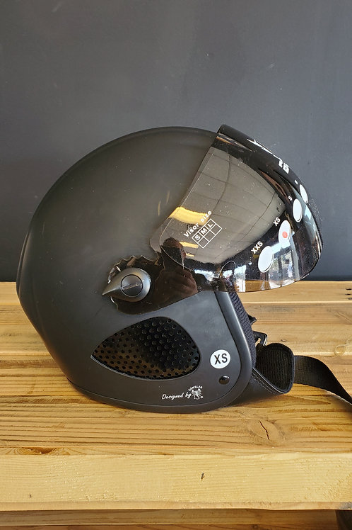 Borres 3/4 Face Helmet flat incl. flap visor black