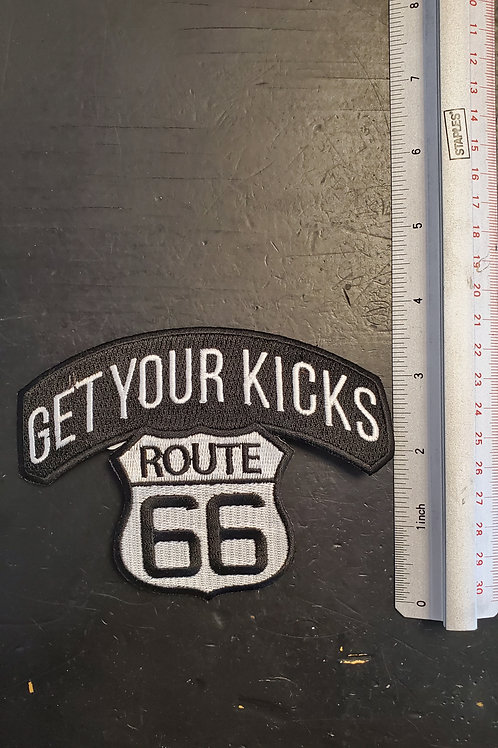 """Patch """"Get your kicks Route 66"""" - iron on"""