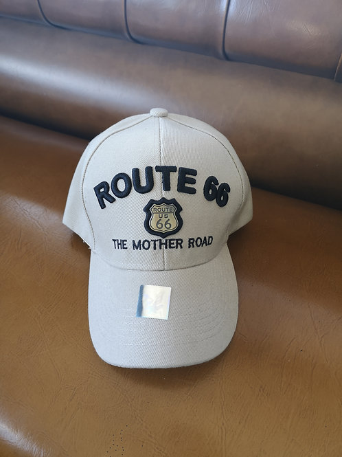 Route 66 Mother Road Base Cap beige/grey applications adjustable