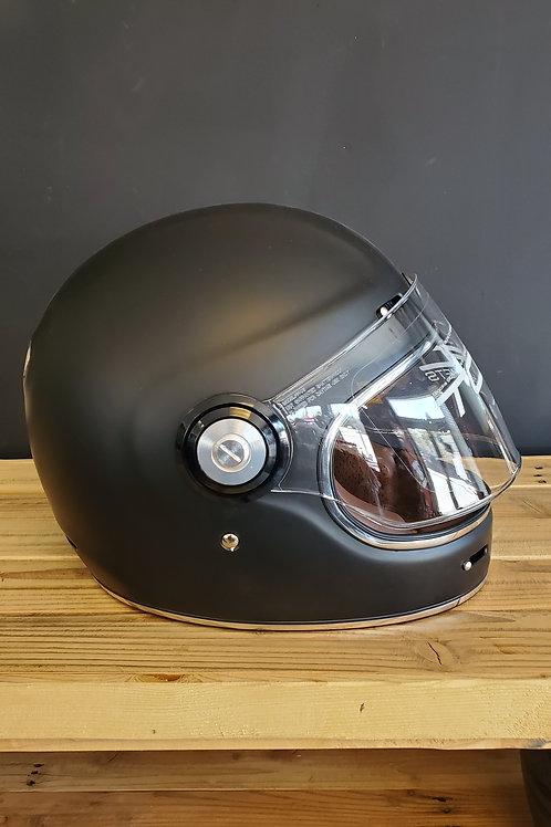 Torc Retro Full Face Helmet flat black
