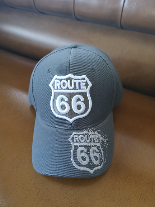 Route 66 Mother Road Base Cap dark grey applications adjustable