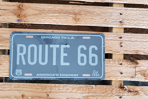 Route 66 Sign License Plate