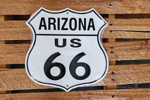 Metal Sign Shield Route 66 USA Flag Arizona