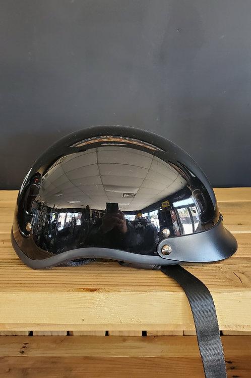 Torc Half Face Helmet glossy T Face black