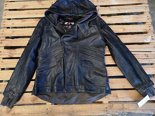 Motorcycle hoodie Jacket - High quality Leather - brown