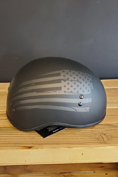 Torc Half Face Helmet flat American T Face Flag black incl. Visor
