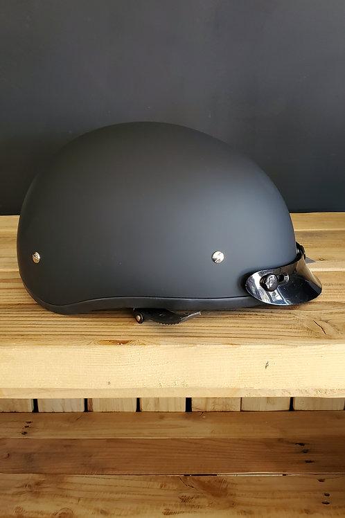 Fulmer Daytona Skull Cap Half Face Helmet flat black