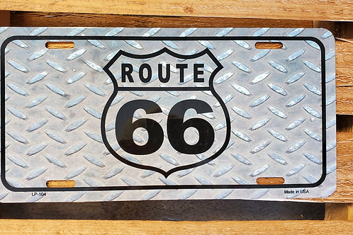 Route 66 Sign License Plate Flag USA R66