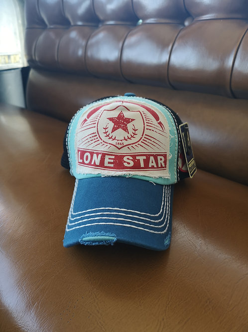 Lone Star Base Cap blue applications adjustable