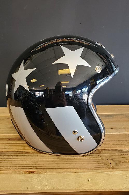 Torc 3/4 Face Helmet American Flag Star glossy