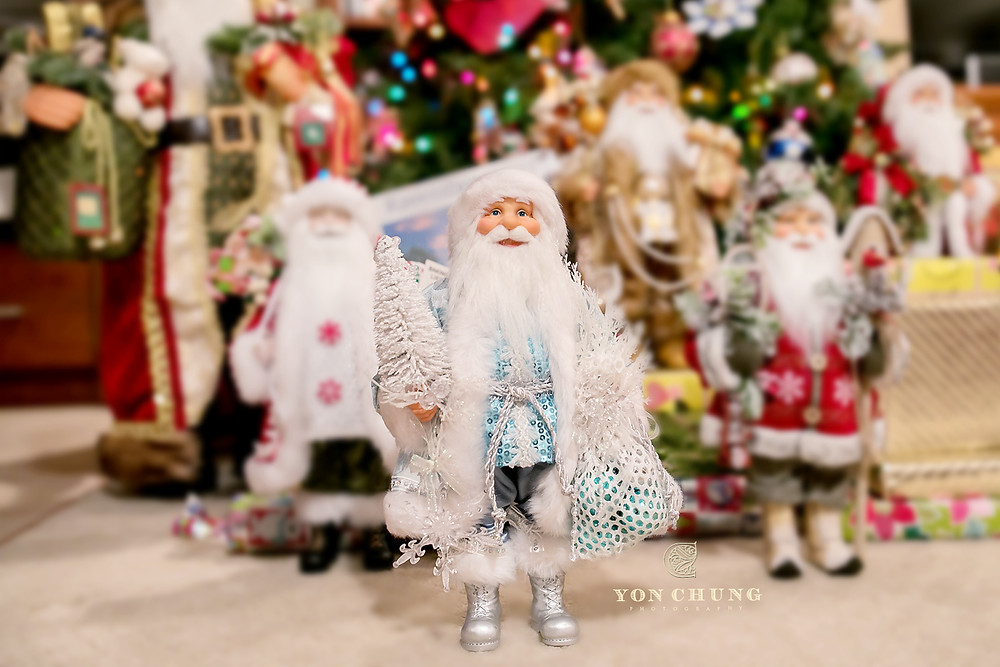 white santa, gift for christmas, small business, white and blue