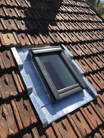 Fenetre de toit et abergement zinc