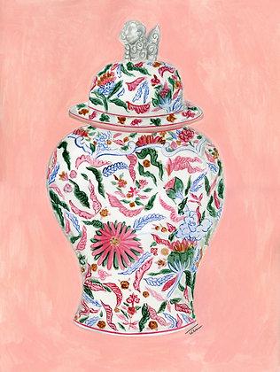 Chinoiserie Vase Painting (no 1)