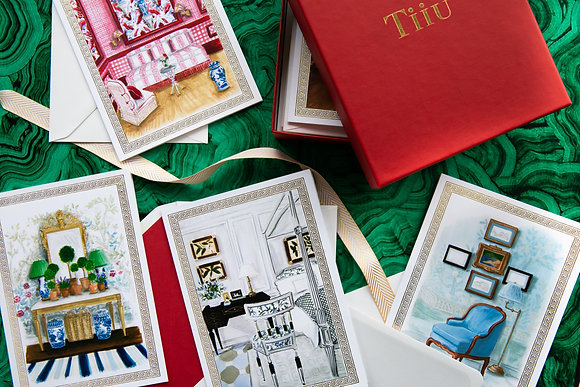 Coloured Interiors - Illustrated Greetings Cards