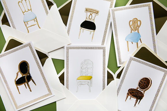 Chic Chairs - Illustrated Greetings Cards