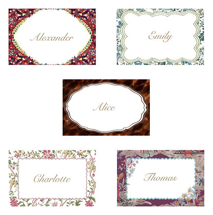 Bundle Tablescapes - Printable Dinner Invitations & Placecards