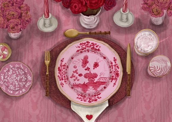 Valentines Tablescape - Printable Dinner Menu