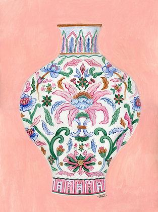 Chinoiserie Vase Painting (no 3)