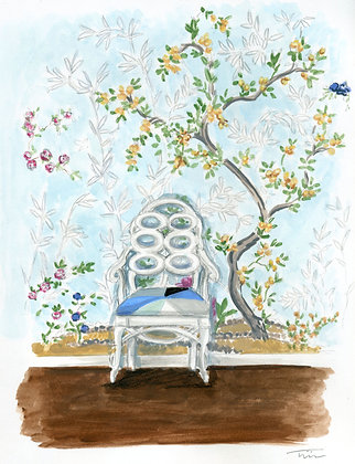 Loop Chair Chinoiserie Painting