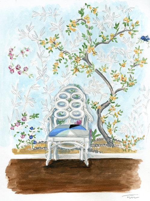 Loop Chair Chinoiserie Painting