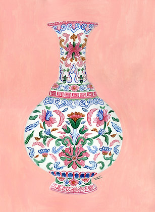 Chinoiserie Vase Painting (no 2)