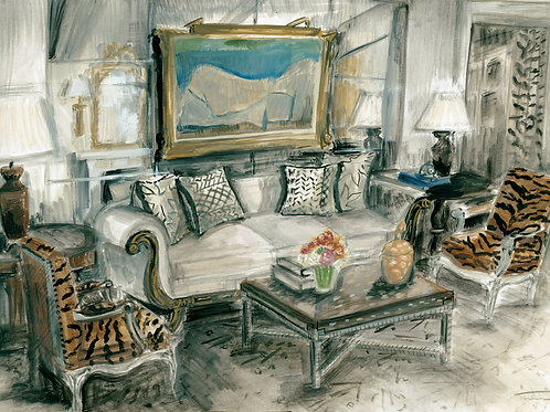 Bunny Williams Living Room Painting