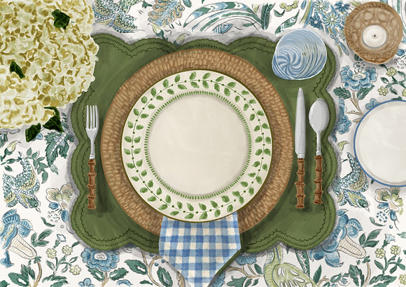Spring Tablescape - Printable Dinner Invitation & Placecards