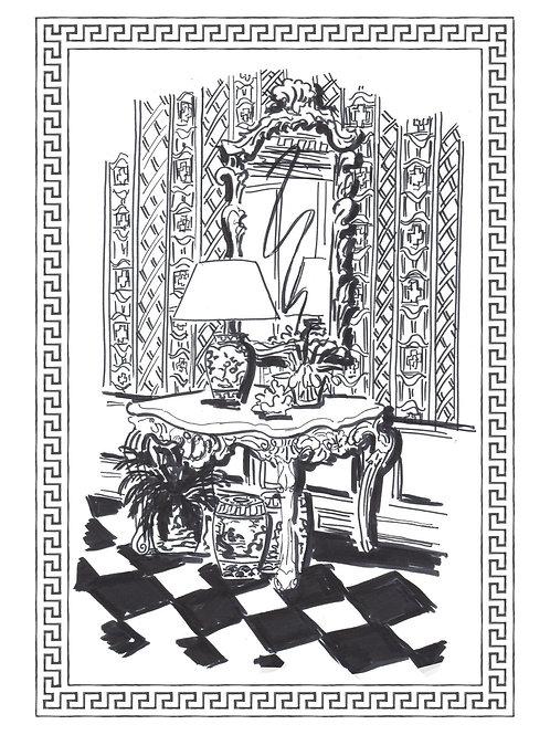 Black & White Themed Postcards