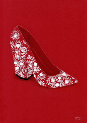 The Red Shoe Illustration
