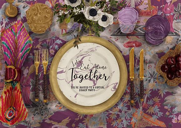 Custom Illustrated Tablescape Invitation & Placecards