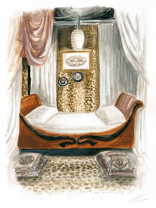 Leopard Print Interior Illustration