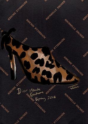 Leopard Shoe Illustration