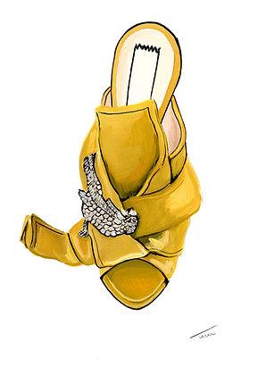 Set of  Four N°21 Shoe Illustrations