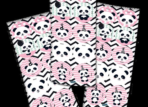 Adesivo Redondo Panda