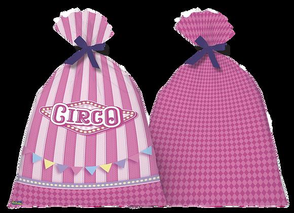 Sacola Plástica Circo Rosa