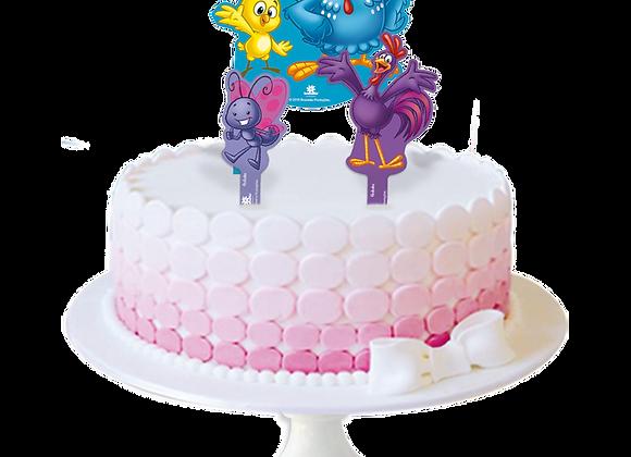 Topo de bolo - Galinha Pintadinha