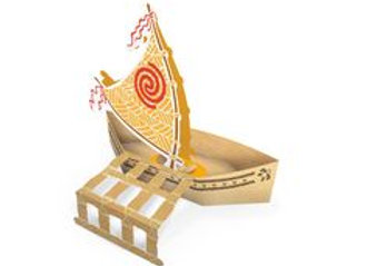 Cachepot Barco moana