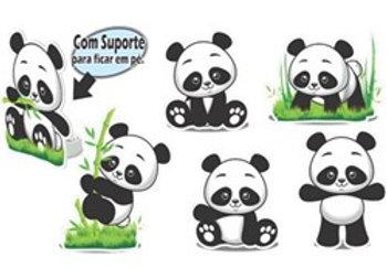 Kit Enfeite de Mesa Panda EVA