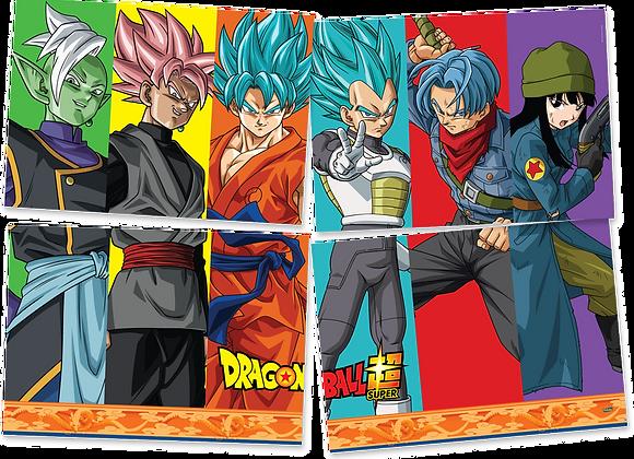 Painel 4 Placas Dragon Ball Z Super