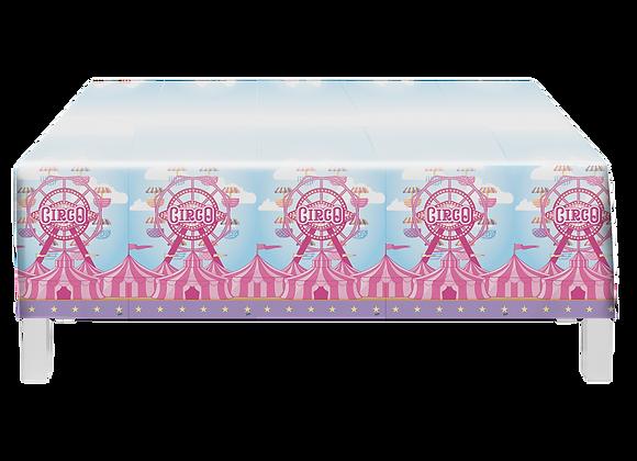 Toalha de Mesa Circo Rosa