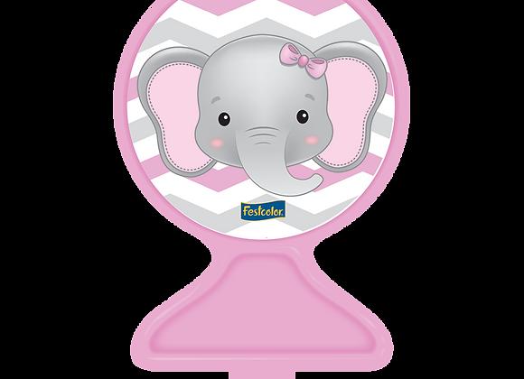 Vela Elefantinha Rosa