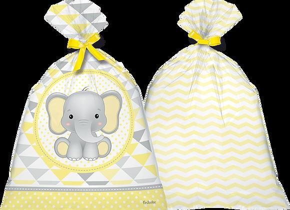 Sacola Plástica Elefantinho Amarelo